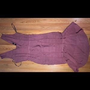 Purple-ish bandage  high-low midi